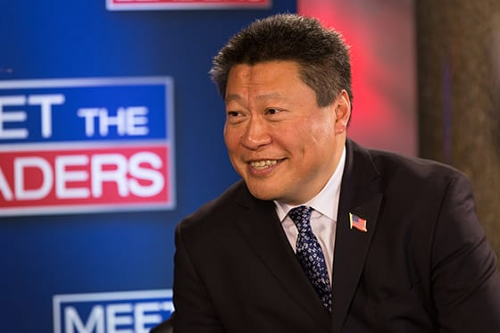State Senator Tony Hwang appears on Meet the Leaders hosted by David Smith. CT State Capitol May 4, 2016.
