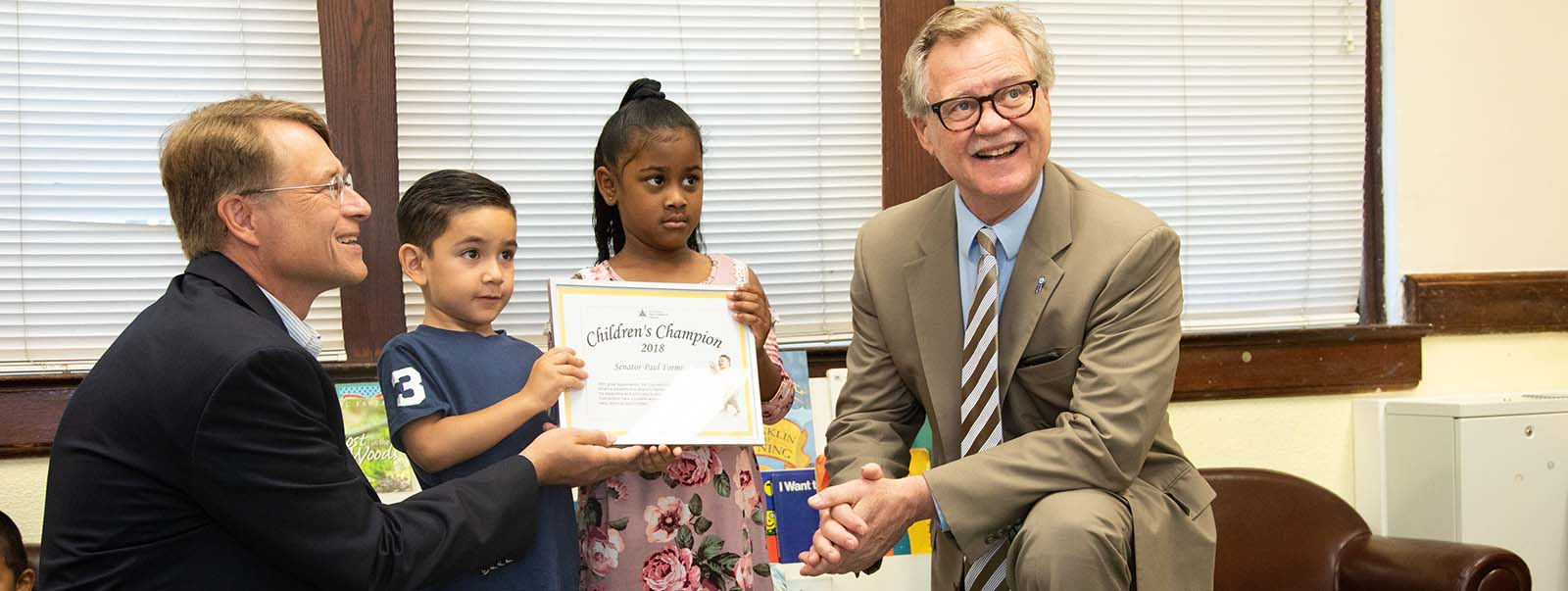 Senator Formica Named 2018 Children's Champion